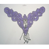 Beaded Motif Sequin Silver/ Opaque lilac   V-shape